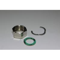Kit c/ Porcas niqueladas + 10 anilhas em fibra + 10 freios inox